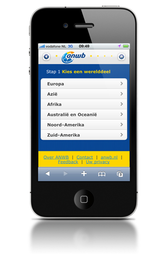 ANWB Travel Information Mobile Site